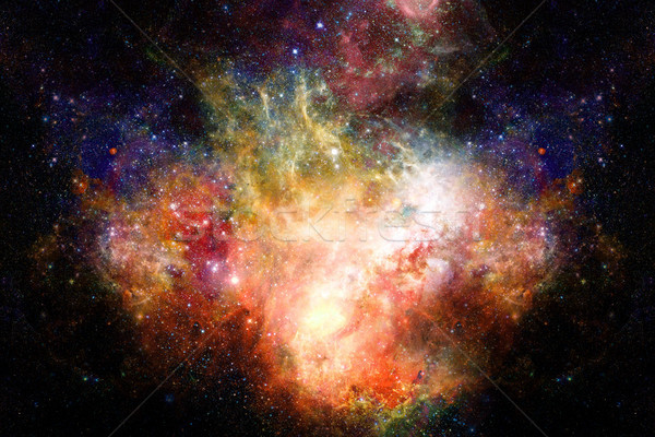 Stock photo: Nebula and stars in deep space, mysterious universe.