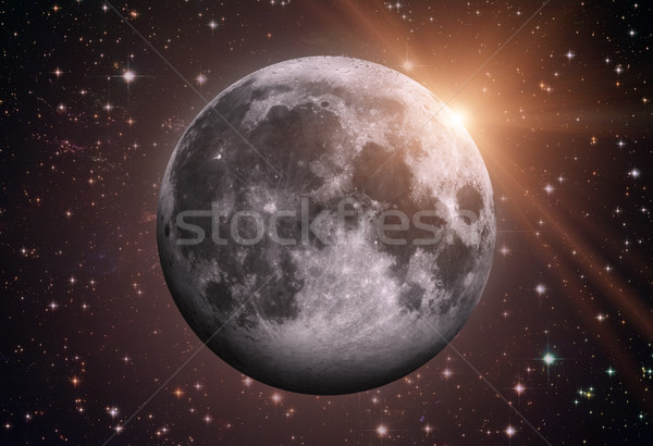 Solar System - Earths Moon. The Moon is Earth's only natural satellite. Stock photo © NASA_images