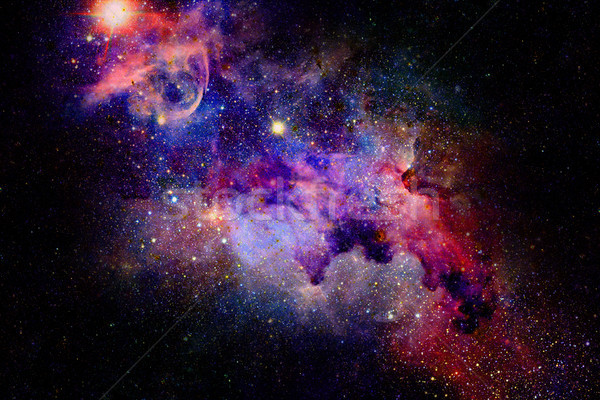Mgławica gwiazdki głęboko przestrzeni tajemniczy wszechświata Zdjęcia stock © NASA_images