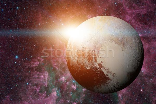 Сток-фото: Солнечная · система · Плутон · карлик · планеты · пояса · кольца