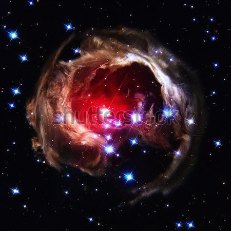 V838 Monocerotis is a red star in the constellation Monoceros. Stock photo © NASA_images