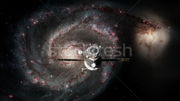 Spacecraft Progress orbiting the galaxy. Stock photo © NASA_images