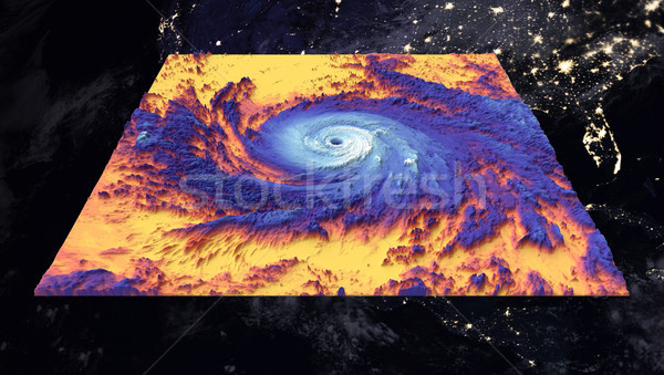 Hurricane Maria. Thermal image. Elements of this image furnished by NASA Stock photo © NASA_images