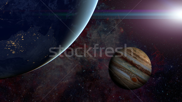 Solar System - Jupiter. Science background. Stock photo © NASA_images