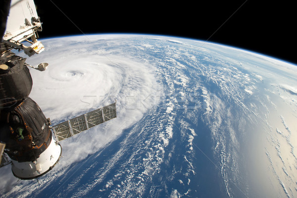 Hurricane from Space Station. Elements of this image are furnished by NASA Stock photo © NASA_images