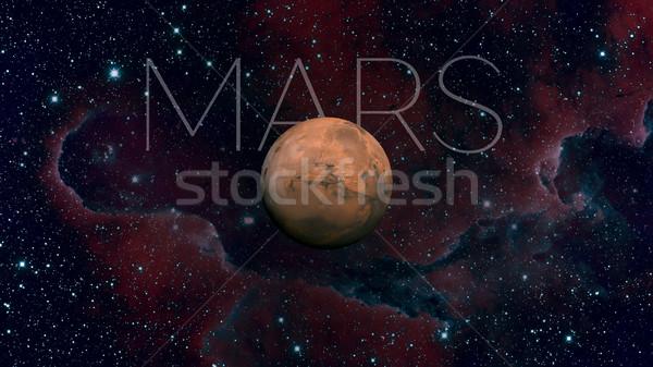 Foto stock: Sistema · solar · quarto · planeta · sol · fino · atmosfera