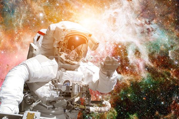 астронавт космическое пространство фон Элементы изображение небе Сток-фото © NASA_images