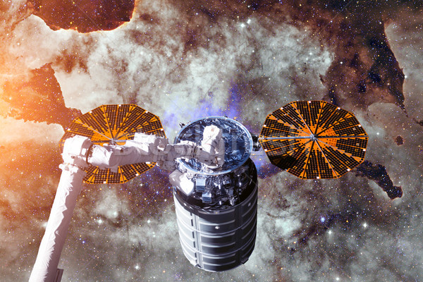 Cargo spacecraft - The Automated Transfer Vehicle over nebula. Stock photo © NASA_images