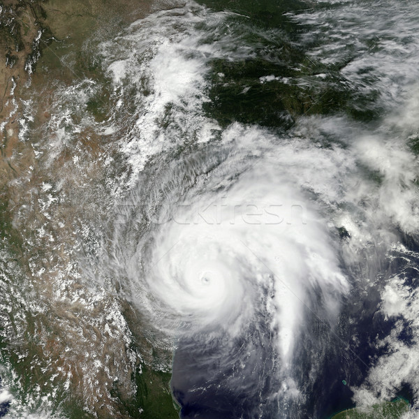 Tropical storm Harvey. Elements of this image are furnished by NASA Stock photo © NASA_images