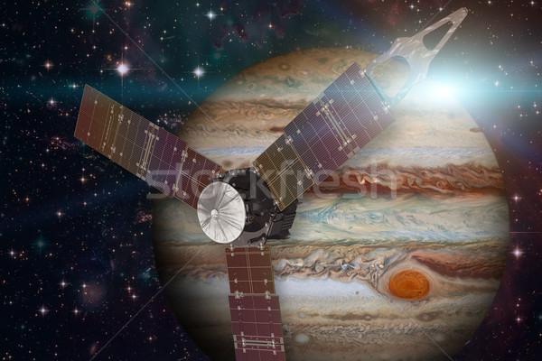 Juno spacecraft and Jupiter. Stock photo © NASA_images