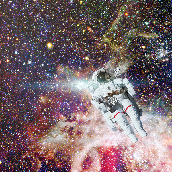 Astronauta espacio exterior nebulosa elementos imagen hombre Foto stock © NASA_images