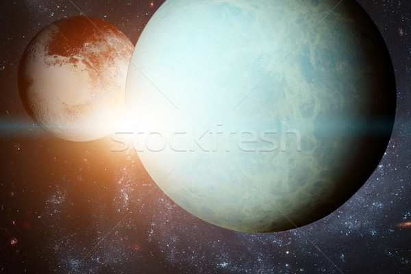 Sistemul solar element imagine planetă soare gigant Imagine de stoc © NASA_images