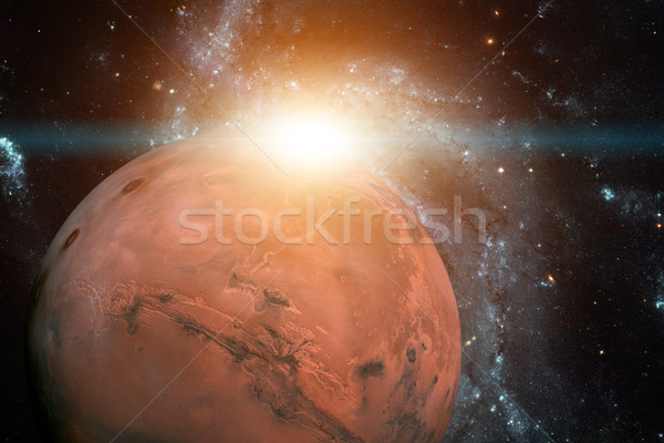 Solar System - Mars. It is the fourth planet from the Sun. Stock photo © NASA_images