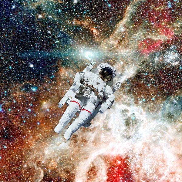 Photo stock: Astronaute · espace · nébuleuse · image · homme