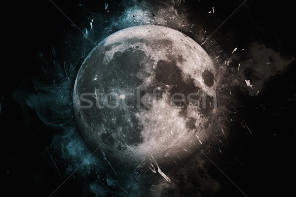 Planet Art - Moon. Elements of this image furnished by NASA Stock photo © NASA_images