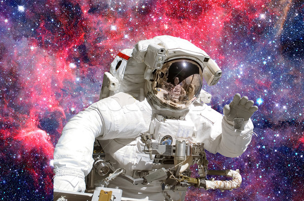 Astronauta espacio exterior elementos imagen cielo tecnología Foto stock © NASA_images