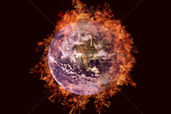 Planet in fire - Earth. Science fiction art. Stock photo © NASA_images