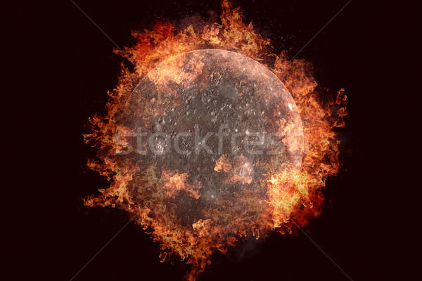 Planet in fire - Mercury. Science fiction art. Stock photo © NASA_images