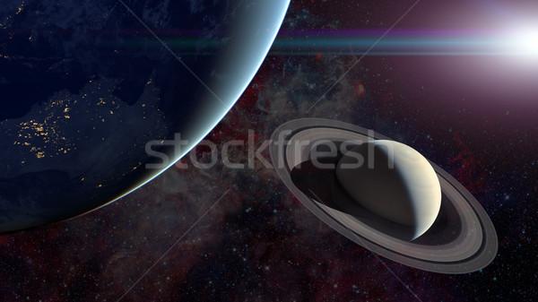 Sistema solar ciência elementos imagem sol espaço Foto stock © NASA_images