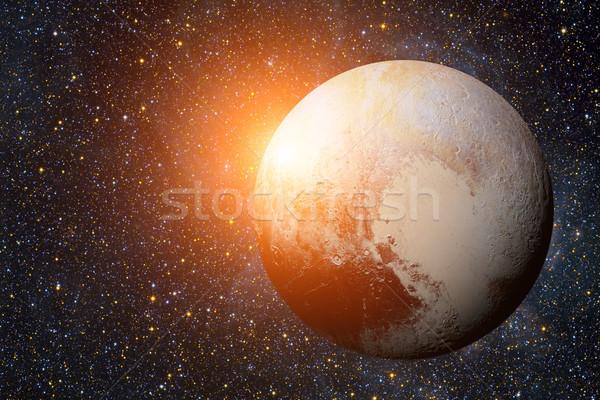 Foto stock: Sistema · solar · plutão · anão · planeta · cinto · anel
