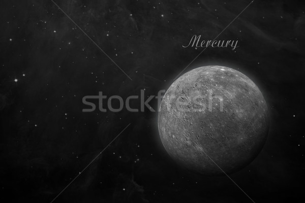 Planet Mercury. Space background. Stock photo © NASA_images
