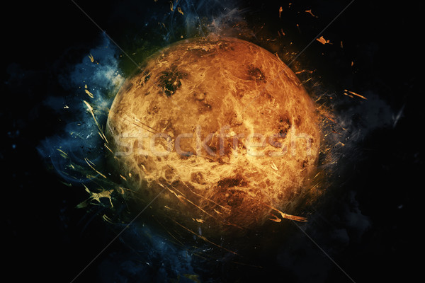 Stock photo: Planet Art - Venus. Elements of this image furnished by NASA