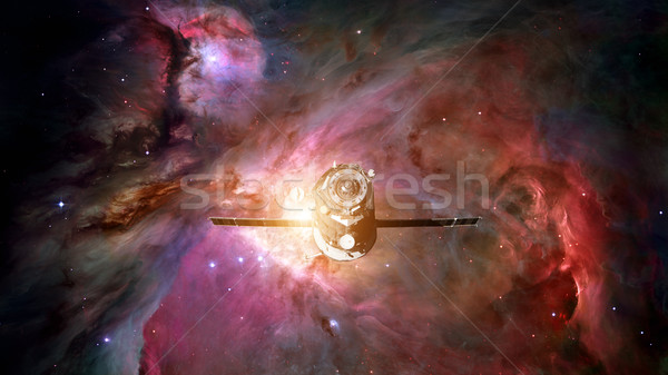 Spacecraft Progress orbiting the nebula. Stock photo © NASA_images