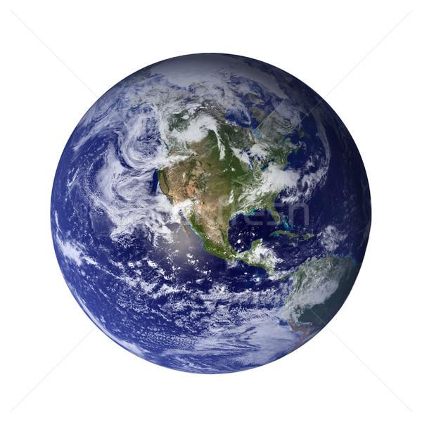 太陽系 地球 孤立した 惑星 白 要素 ストックフォト © NASA_images