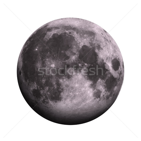 Solar System - Moon. Isolated planet on white background. Stock photo © NASA_images