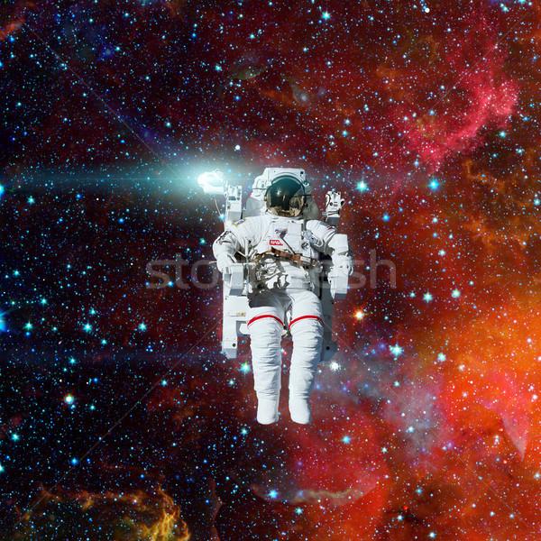 астронавт космическое пространство туманность Элементы изображение человека Сток-фото © NASA_images