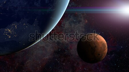 Solar System - Mars. Science background. Stock photo © NASA_images