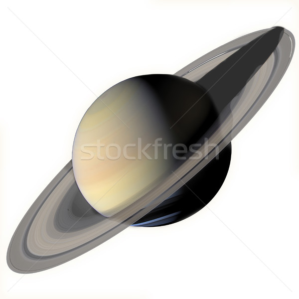 Solar System - Saturn. Isolated planet on white background. Stock photo © NASA_images