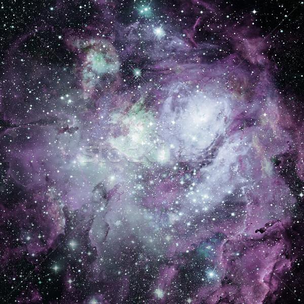 Stock photo: Universe filled with nebula, stars and galaxy.