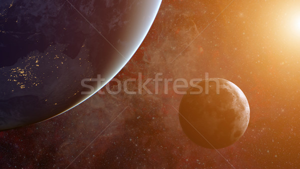 Solar System - Moon. Science background. Stock photo © NASA_images