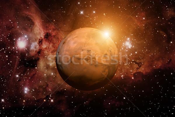 Planet Mars. Nebula on the background. Stock photo © NASA_images