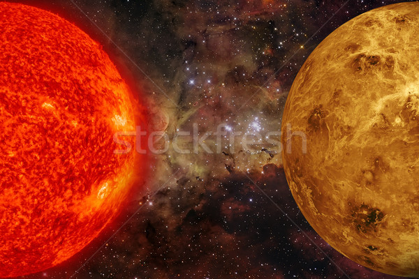 Stock photo: Solar System - Venus. Elements of this image furnished by NASA.