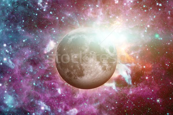 Luna espacio exterior sistema solar naturales satélite uno Foto stock © NASA_images
