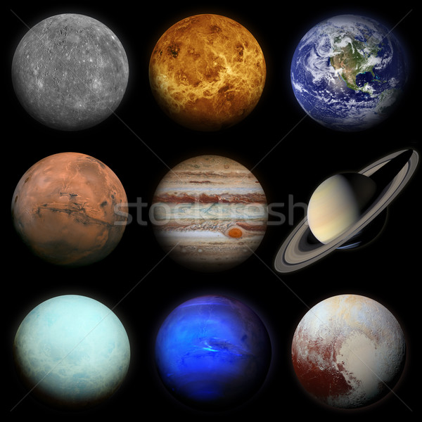 Solar system. Planets on black background. Stock photo © NASA_images
