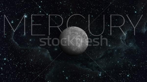 Planet Mercury. Space background. Stock photo © NASA_images