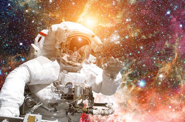 宇宙飛行士 宇宙 銀河 星 要素 画像 ストックフォト © NASA_images