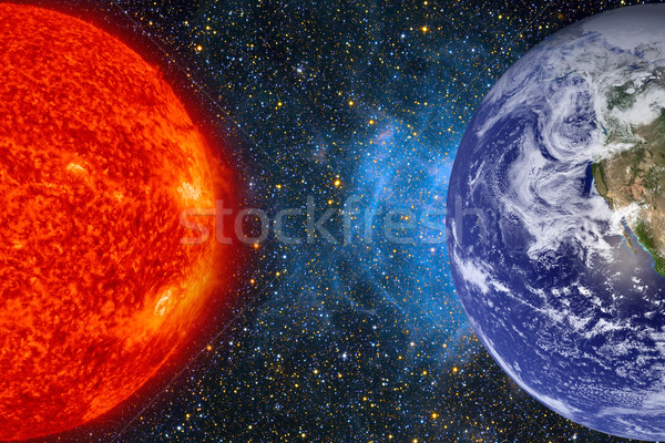 Solar System - Planet Earth an Sun. Stock photo © NASA_images