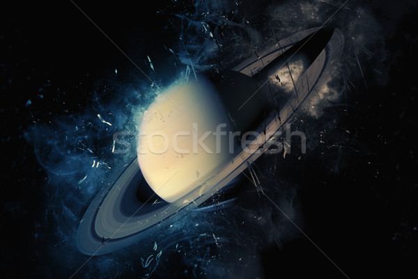 Planet Art - Saturn. Elements of this image furnished by NASA Stock photo © NASA_images