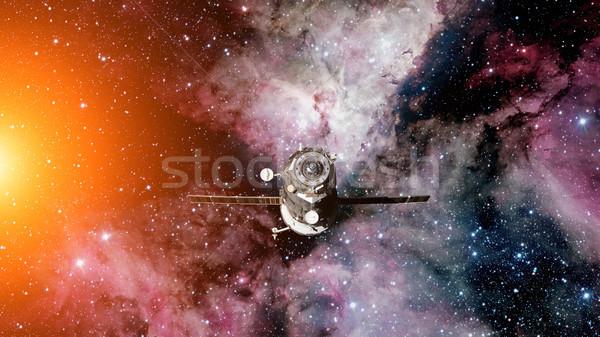 Spacecraft Progress orbiting the earth. Stock photo © NASA_images