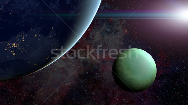 Solar System - Uranus. Science background. Stock photo © NASA_images
