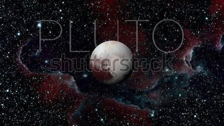 Foto stock: Plutão · anão · planeta · cinto · sistema · solar · anel