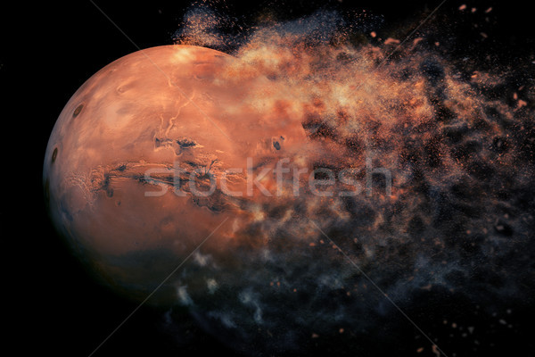 Planet Explosion - Mars. Elements of this image furnished by NASA Stock photo © NASA_images