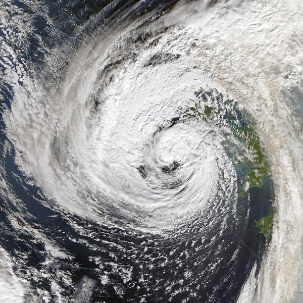 Kasırga elemanları görüntü İrlanda gökyüzü dünya Stok fotoğraf © NASA_images