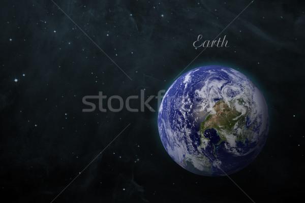 太陽系 地球 孤立した 惑星 黒 要素 ストックフォト © NASA_images