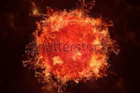 Planeet brand zon science fiction kunst zonnestelsel Stockfoto © NASA_images