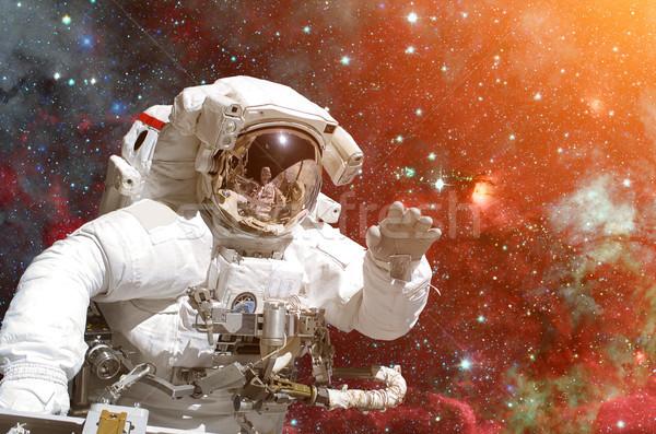 Astronot uzay boşluğu galaksi Yıldız elemanları görüntü Stok fotoğraf © NASA_images